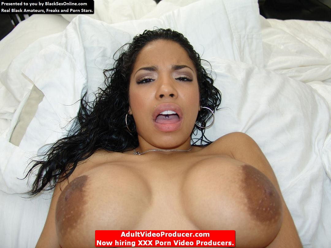 black guy goes at her hot white pussy