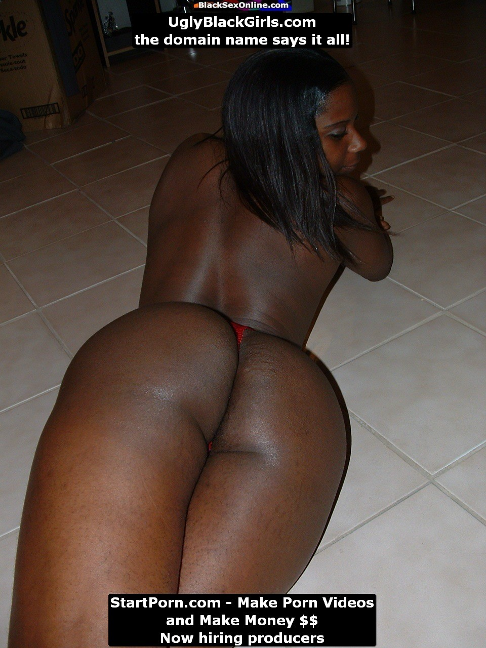 Amateur black butt free